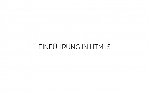 02 HTML - Einführung 1